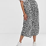 ASOS DESIGN Maternity mock wrap skirt in mono leopard | ASOS