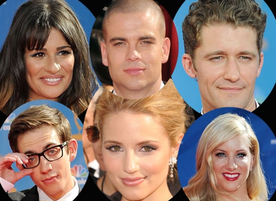 The Cast of Glee at the 2010 Primetime Emmy Awards