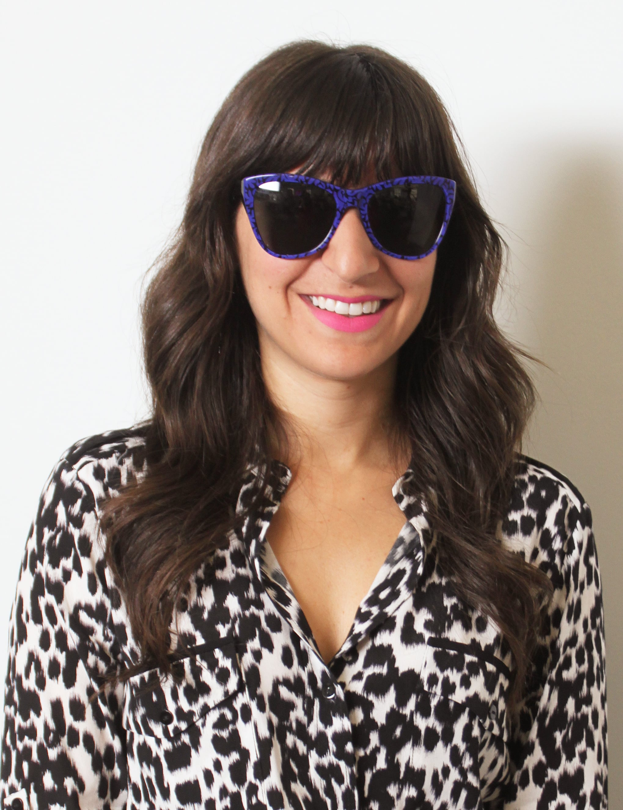 These bold blue Stella McCartney cat-eye shades ($225) feel so summery. Go all the way by pairing them with a nearly neon lipstick like Illamasqua in Luster ($28).