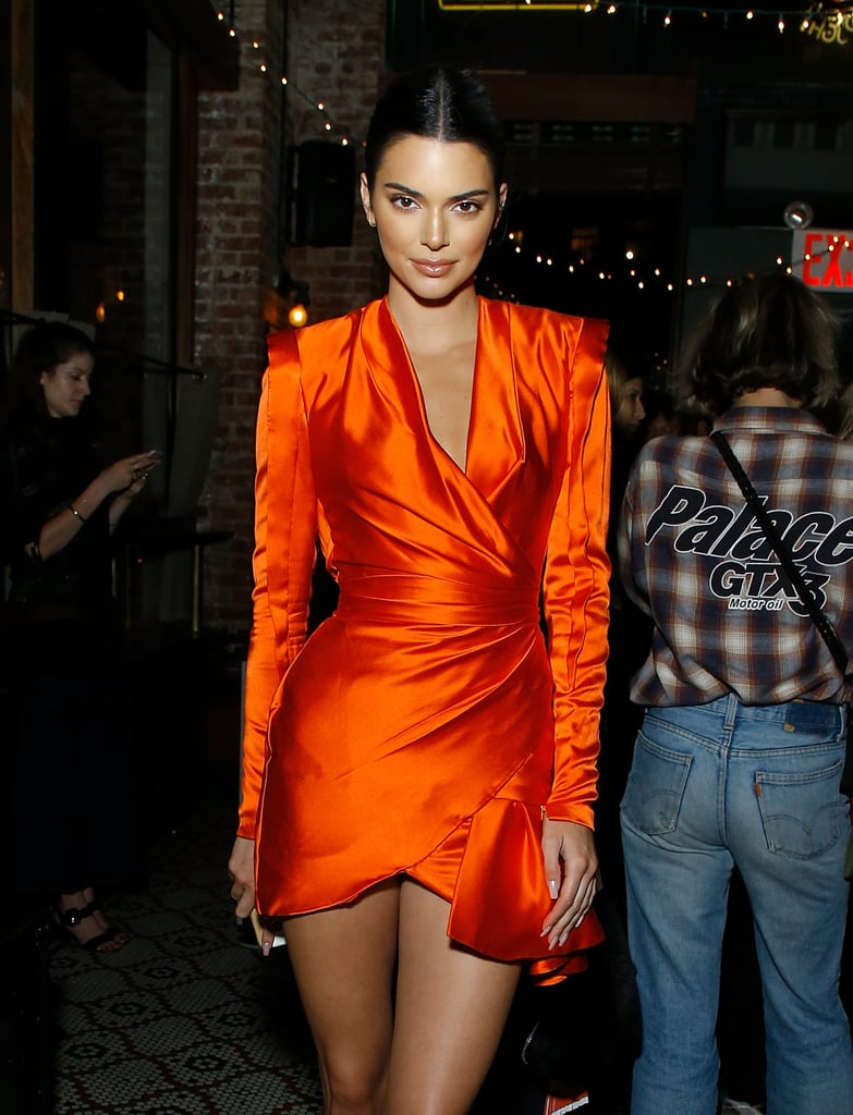 27eb34564e6 Kendall Jenner Red Wrap Dress