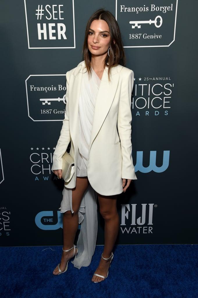 Emily Ratajkowski at the 2020 Critics' Choice Awards