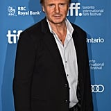 Liam Neeson attended the press conference for his film Third Person.
