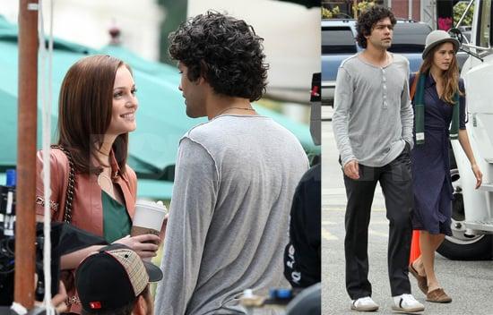 Adrian Grenier and Leighton Meester Film Gossip Girl in LA