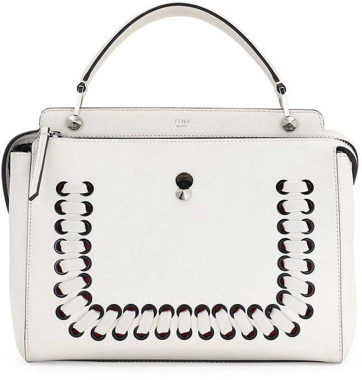 9dbfeb0d7307 ... czech fendi dotcom medium whipstitched leather satchel bag white 2900  13905 4775b ...