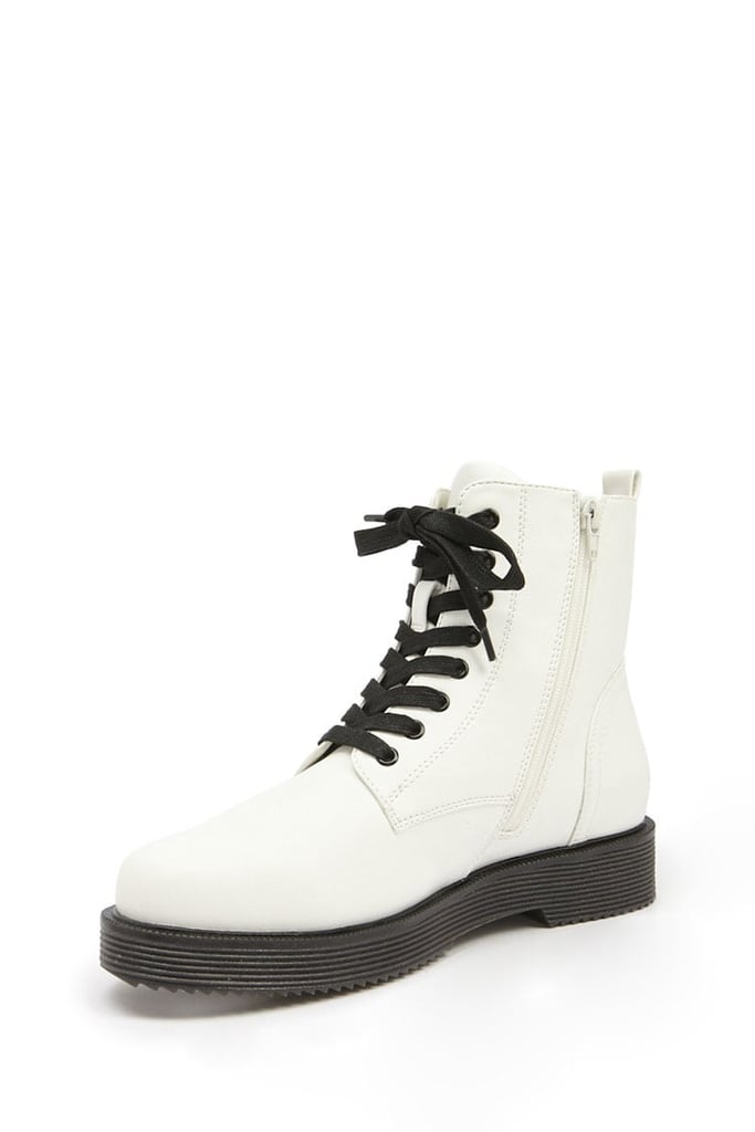 20cc96d5faf8 Forever 21 Faux Leather Combat Boots