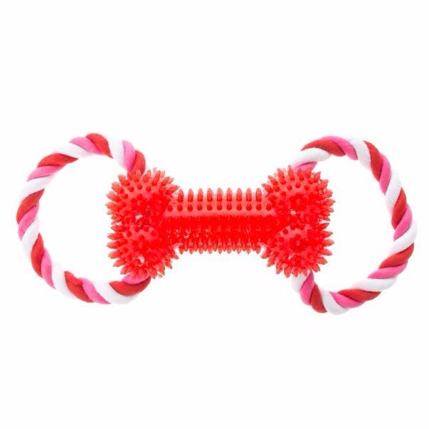 Top Paw Valentine's Rope Bone Dog Toy ($8)