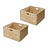 Seville Classics Woven Hyacinth Storage Basket