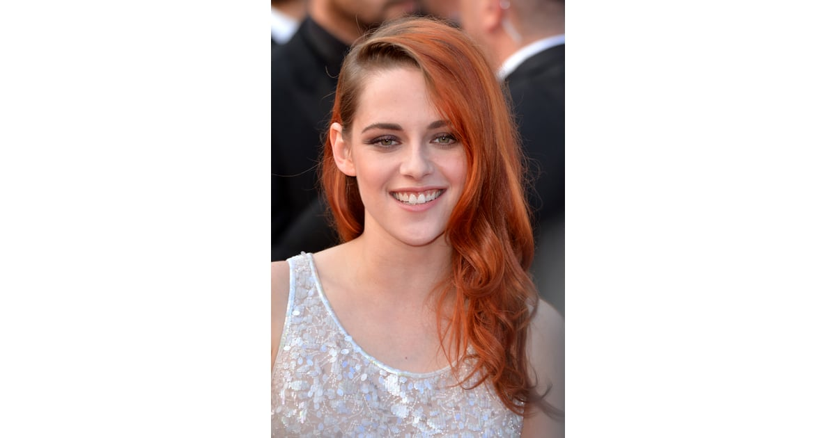 kristen stewarts red hair was on display at the clouds of