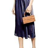 Topshop Satin Wrap Midi Skirt