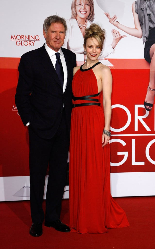 Pictures of Rachel McAdams at the Berlin Morning Glory Premiere in Michael Kors With Harrison Ford
