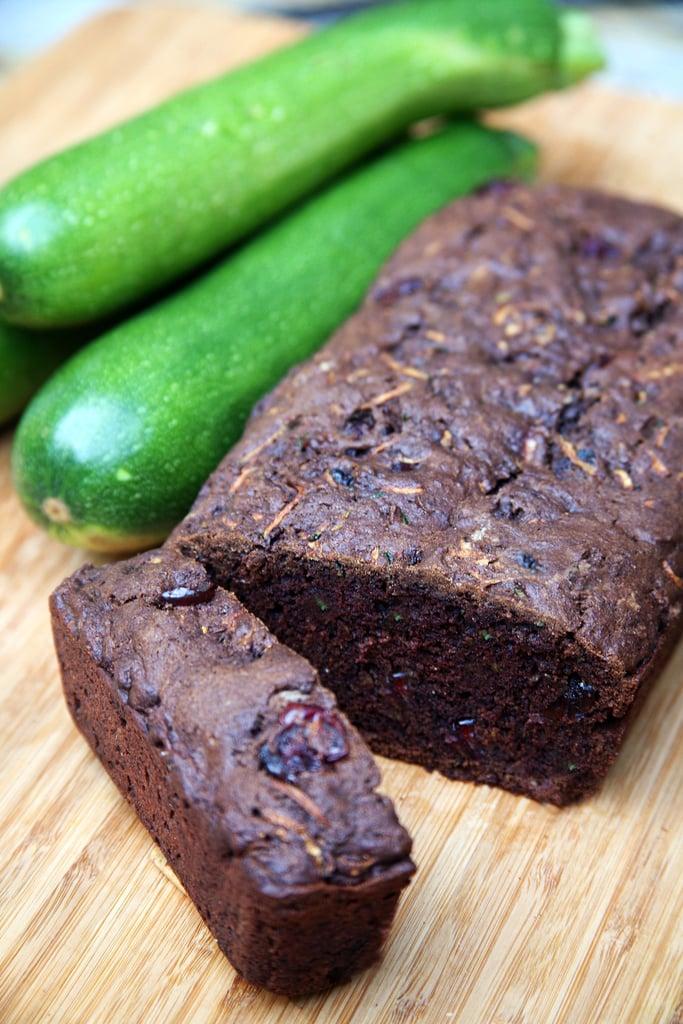 Vegan Chocolate-Cranberry Zucchini Bread