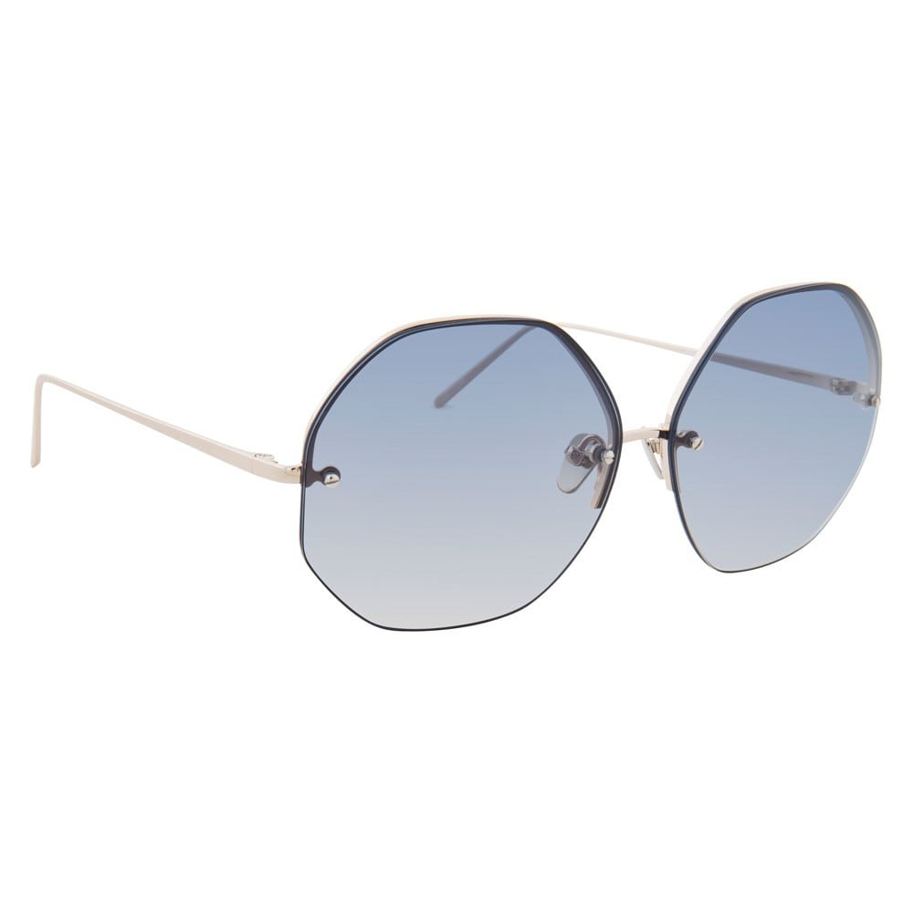 Soften the angular shape by going rimless in these Linda Farrow Luxe Geometric Sunglasses ($695).