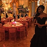 """Michelle shared a sneak peek of the gorgeous setting on Instagram, writing, """"First glance at tonight's China State Dinner."""""""