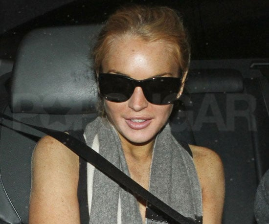 Slide Picture of Lindsay Lohan Going to the Gym in LA