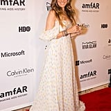 Sarah Jessica Parker looked pretty in white at the amfAR Inspiration Gala on Tuesday in NYC.