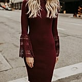 Valphsio Bell-Sleeve Sweater Dress