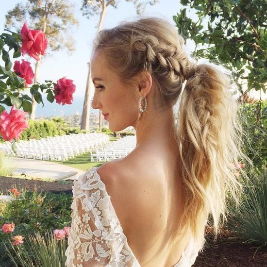 Geflochtene Frisuren für eine Hochzeit
