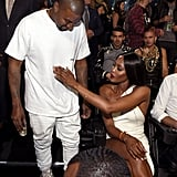 Pictured: Naomi Campbell and Kanye West