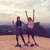 Beautiful birthday hike for Troian Bellisario.