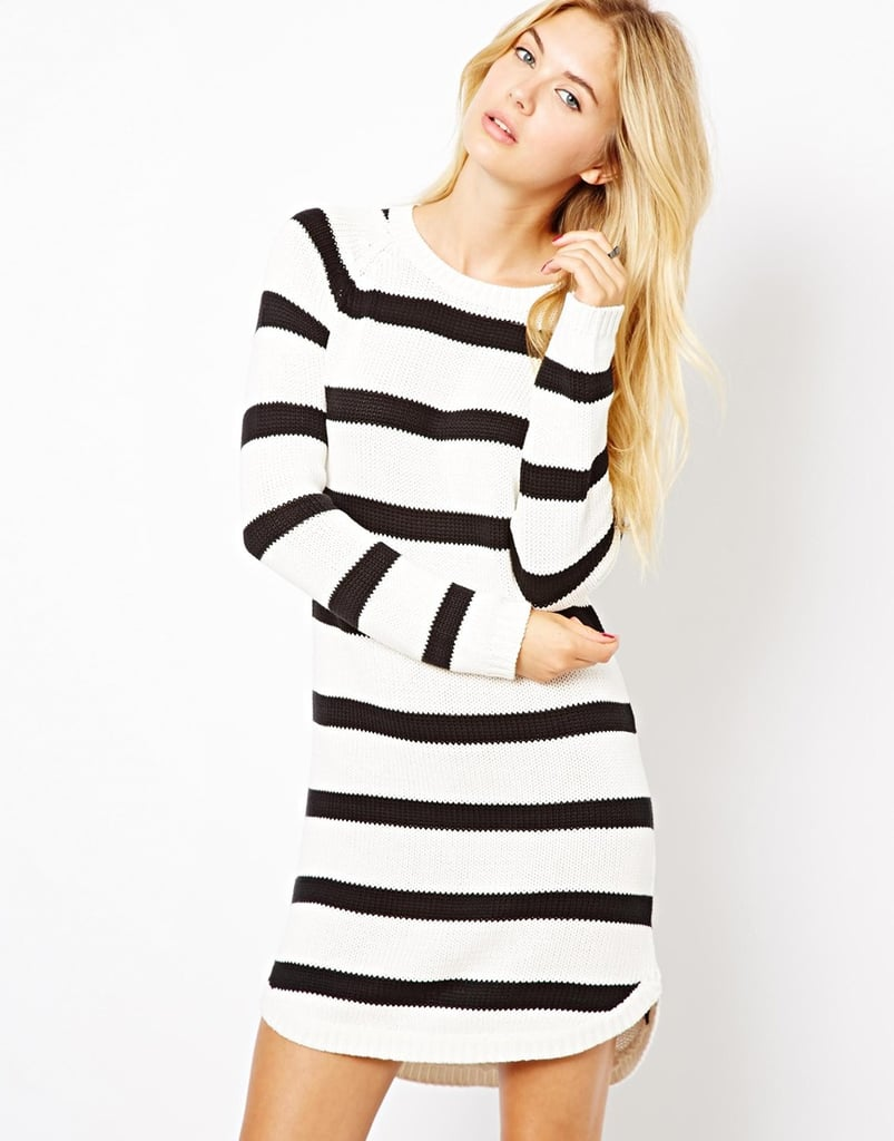 Just add ankle boots to this Vila stripe crew-neck sweater dress ($45) and you've got a killer Fall outfit.