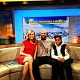 Common promoted his new movie LUV with costar Michael Rainey Jr. on Good Morning America.  Source: Instagram user common