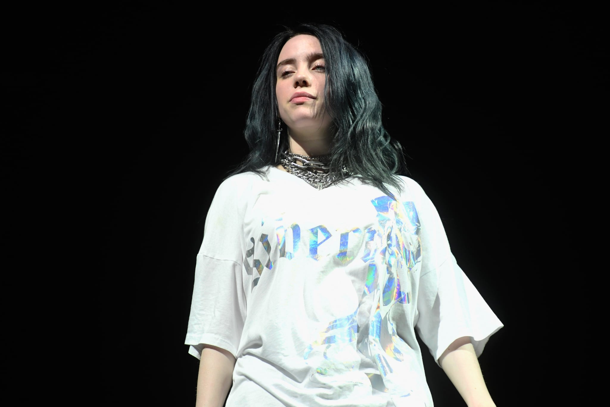 INDIO, CA - APRIL 13:  Billie Eilish performs at Outdoor Theatre during the 2019 Coachella Valley Music And Arts Festival on April 13, 2019 in Indio, California.  (Photo by Frazer Harrison/Getty Images for Coachella)