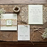 Accent invitations with lace and twine.