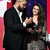 Degrassi costars Nina Dobrev and Drake reunited at the 2016 show.