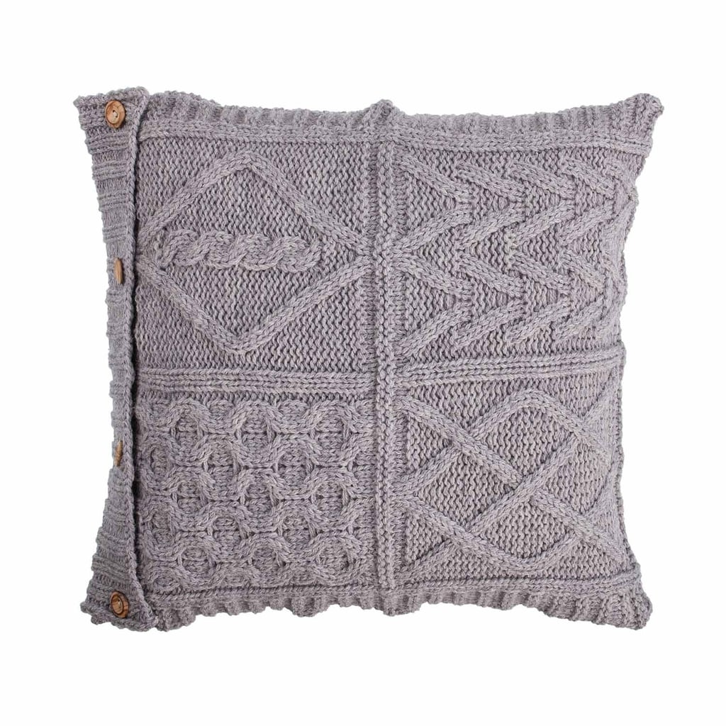 The Wool Company Chunky Knit Aran Cushion
