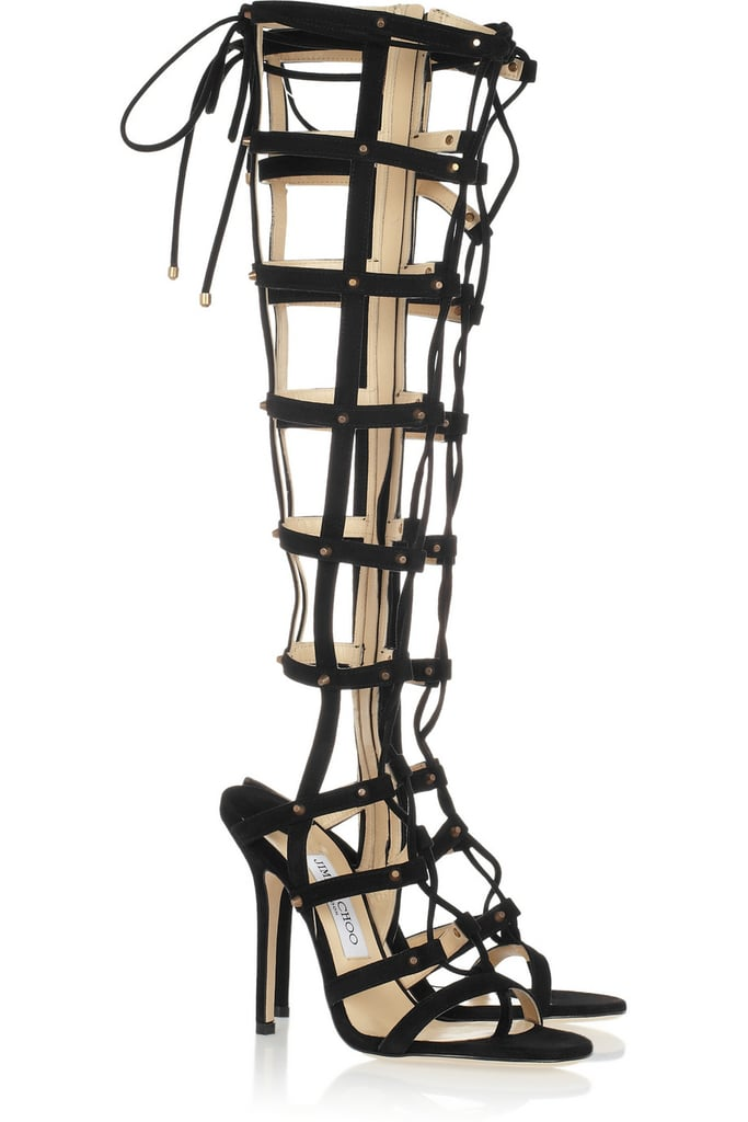 Ready to try your hand at the extreme gladiator trend? Jimmy Choo's knee-high boots ($449, originally $1,495) are a sexy option.