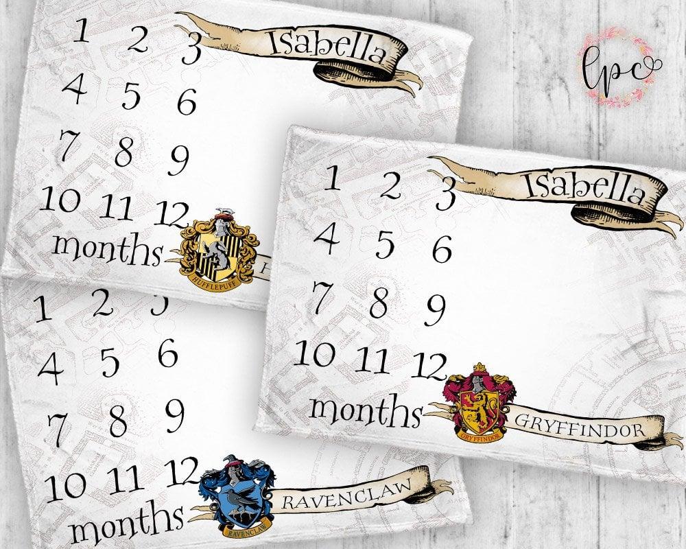 Hogwarts House Milestone Blanket