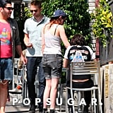 Kristen Stewart and Robert Pattinson went to sushi with friends in LA.