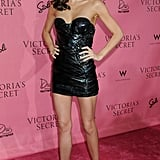 Appropriately enough for a bash celebrating What's Sexy, Miranda sported a strapless mini-dress with leather and embellished details at a Victoria's Secret party in Hollywood.