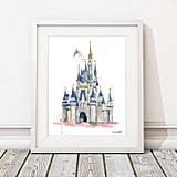 Disney Castle Watercolor Print