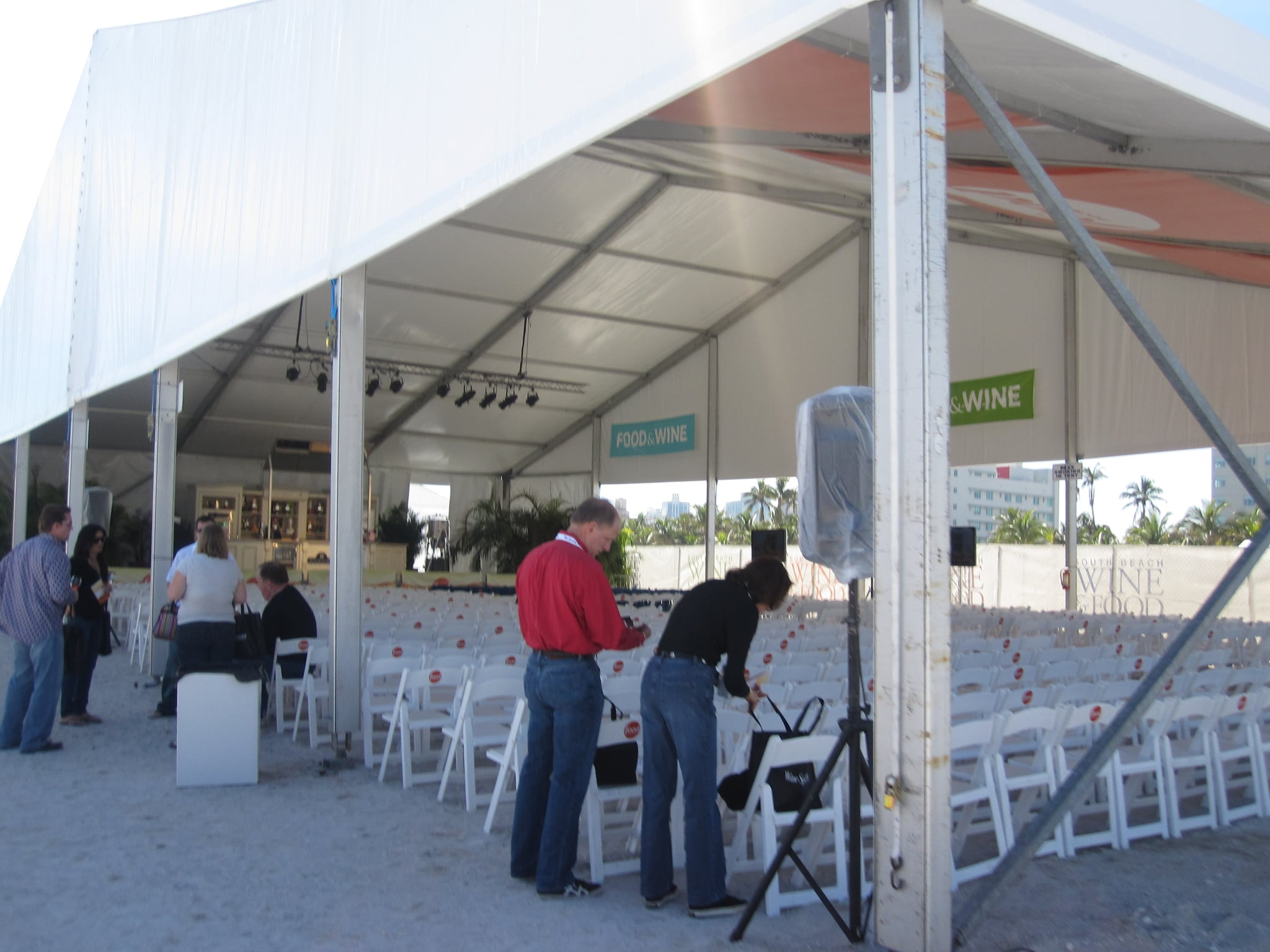 Upon entering the festival, guests are greeted with a huge demo stage.