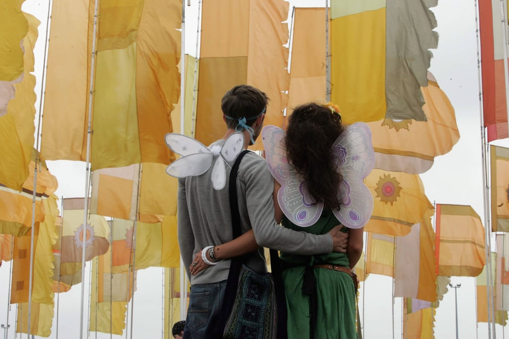 This winged couple attended WOMAD in Reading, England.