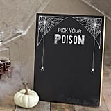Pick Your Poison Chalkboard Menu