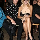 Oliver Cheshire and Pixie Lott at Moschino Cheap and Chic