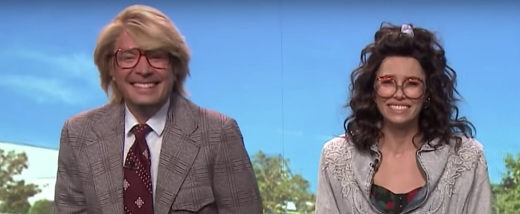 Jimmy Fallon and Jessica Biel Laugh Through a Hilarious Skit