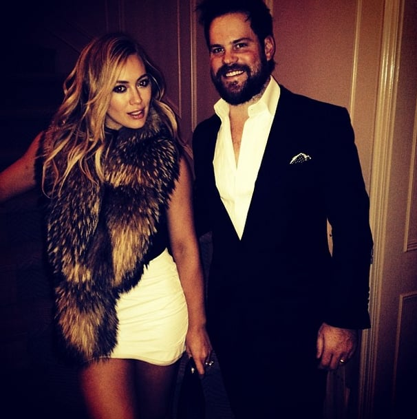 Hilary Duff looked ultraluxe on New Year's Eve. Source: Instagram user hilaryduff