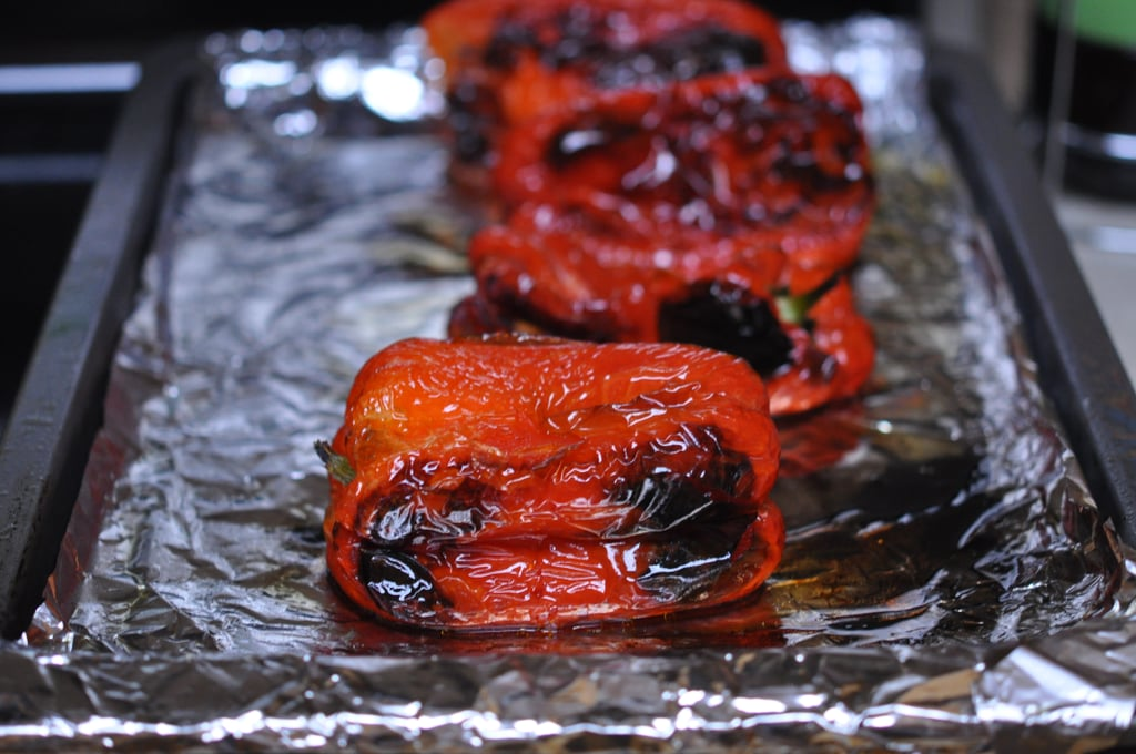 Roasting Red Peppers