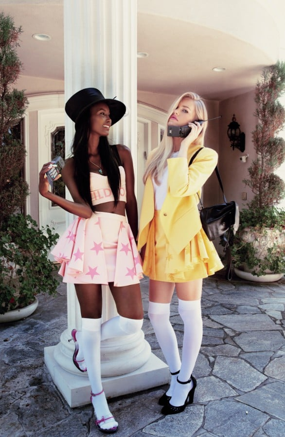 Recently, Wildfox released its Spring '13 lookbook, which paid homage to cult '95 hit movie Clueless. Herein find a sweet dose of knee-high socks, crop tops, platform Mary Janes, and archaic-looking cell phones.