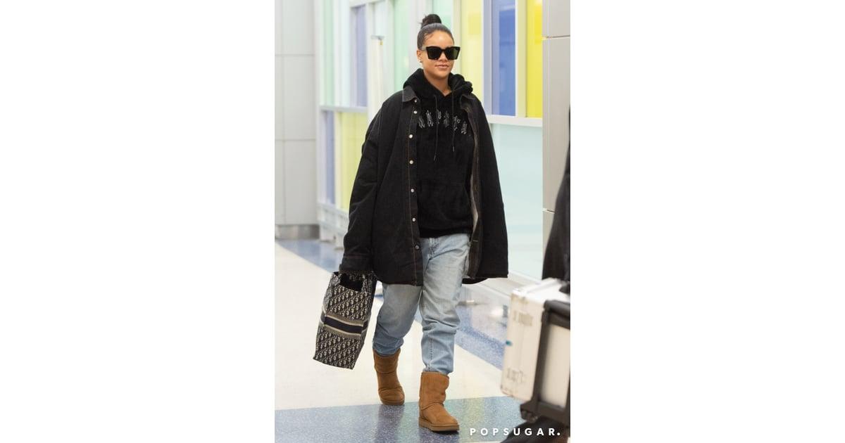 adb2c35daec Rihanna Wearing Uggs at the Airport January 2019 | POPSUGAR Fashion ...
