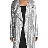 Norma Kamali Oversized Sequin Topper Coat