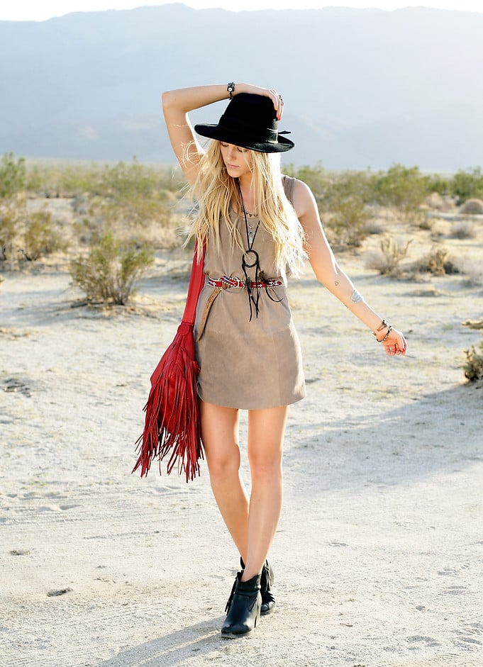 Make your festival wares last way longer than summer. Our advice to you? Just add a cool hat and some fringe.  Photo courtesy of Lookbook.nu