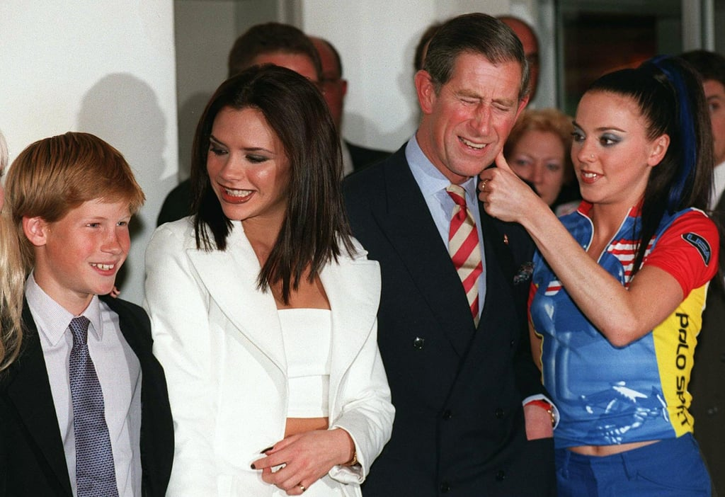 Prince Charles, Prince Harry, and the Spice Girls