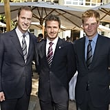William and Harry With David Beckham