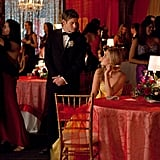 Zach Roerig and Claire Holt on The Vampire Diaries.