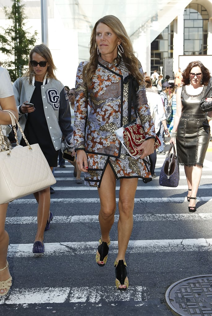 Anna Dello Russo showed off one of Proenza Schouler's Fall '12 Eastern-inspired kimono and skirt sets.
