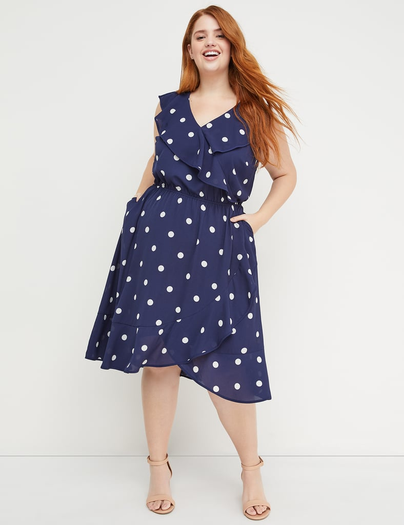 3fdbc0915f8 Beauticurve Polka-Dot Ruffle Midi Dress